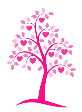 heart tree on white background Vector