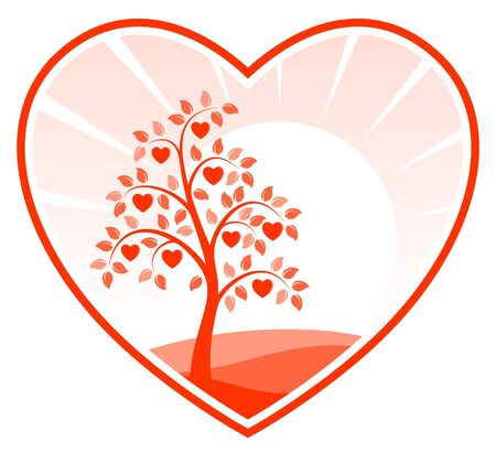heart tree in heart Stock Vector - 9811138
