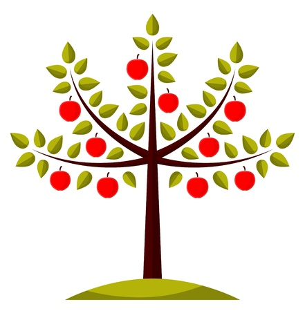 apfelbaum: Apfelbaum Illustration