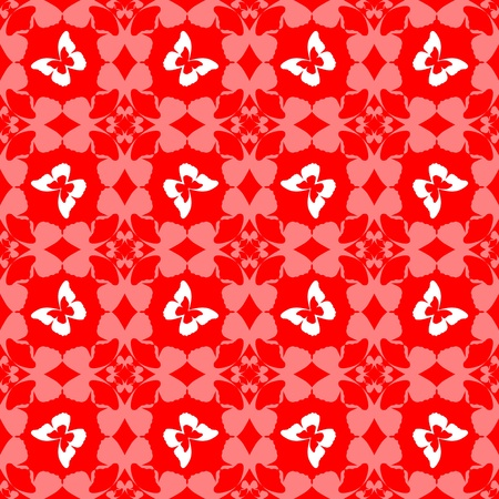seamless texture with butterfly pattern Vector
