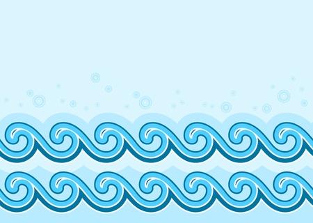 wasser: nahtlose Wellen-Grenze