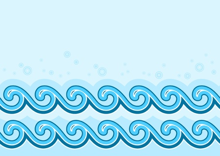 seamless waves border Vector