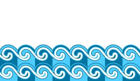 naadloze golven grens Stock Illustratie