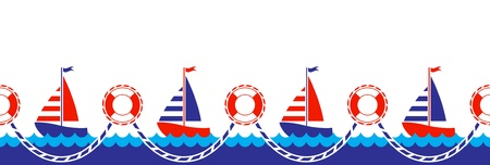 seamless nautical border Stock Vector - 10256302