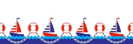 seamless nautical border