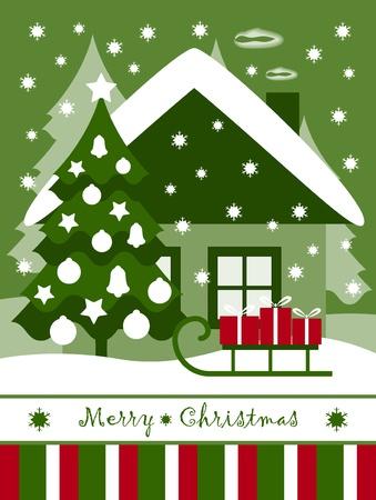 Weihnachtskarte Standard-Bild - 10290703