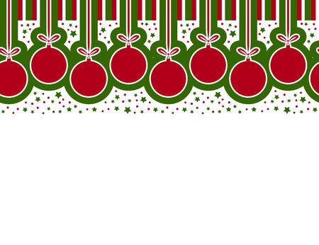 seamless vector christmas ball border