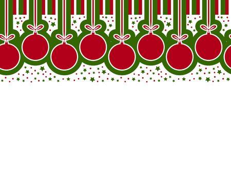 seamless vector christmas ball border