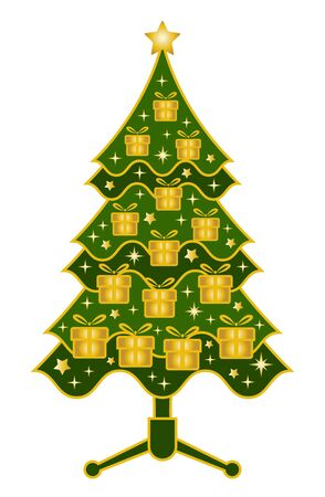 vector christmas tree on white background Stock Vector - 11349112