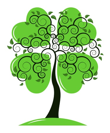 lucky plant: vector St. Patricks Day tree on white background Illustration