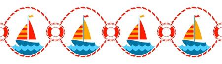 deportes nauticos: vector de n�utica frontera sin costuras Vectores