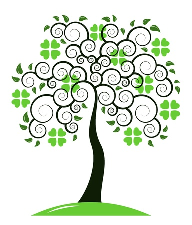 St  Patrick s Day tree isolated on white background Stock Vector - 16790189