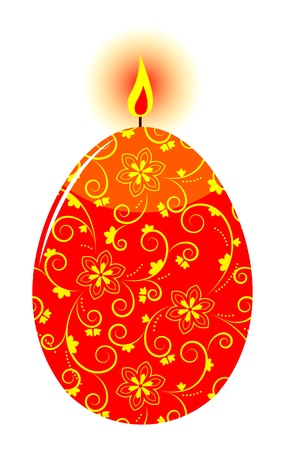 easter egg candle isolated on white background Stock Vector - 18149665