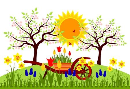 spring garden Stock Vector - 19506702