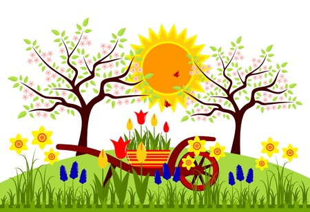 tuft: spring garden