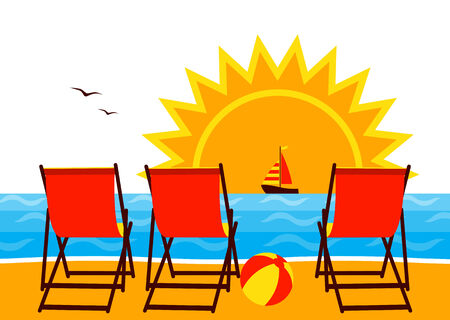 Sonnenschirm strand clipart  Vektörel şemsiye Plajda, Yelkenliler Ve Balıklar Denize Atlamak ...