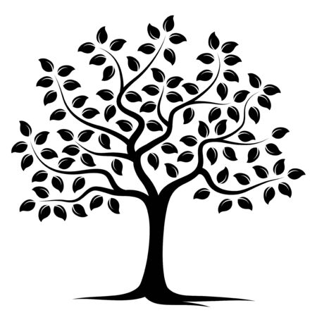 tree isolated: vector tree isolated on white background