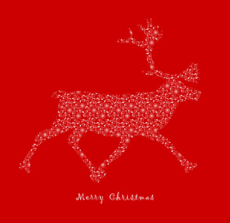 Christmas reindeer with ornamental decor.