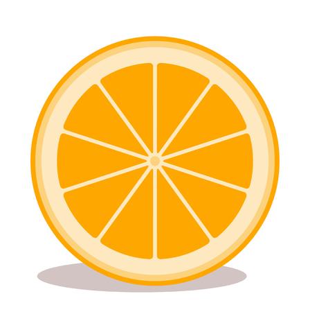 vector orange isolated on white background Illustration