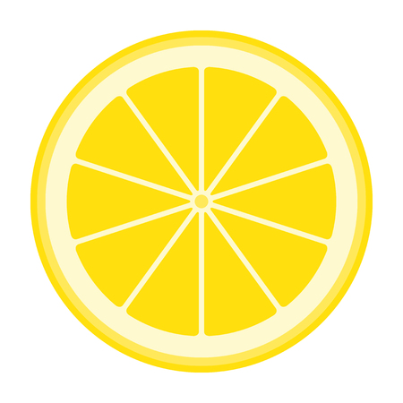 vector lemon isolated on white background