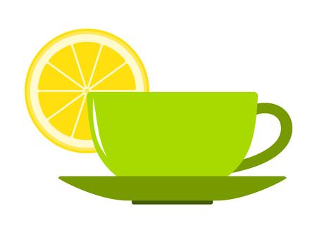 vector lemon tea isolated on white background Illustration