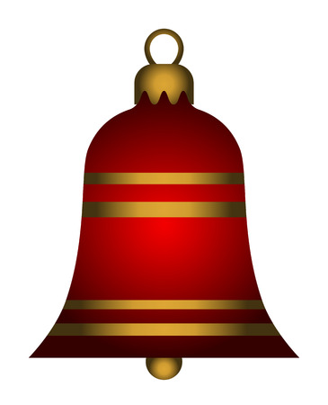 Christmas bell isolated on white background