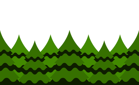 vector seamless tree border isolated on white background