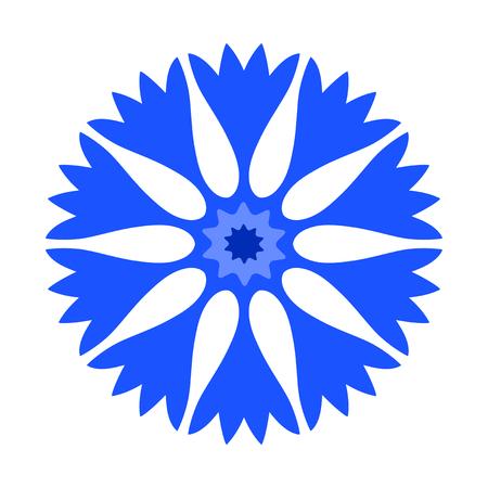 vector cornflower isolated on white background