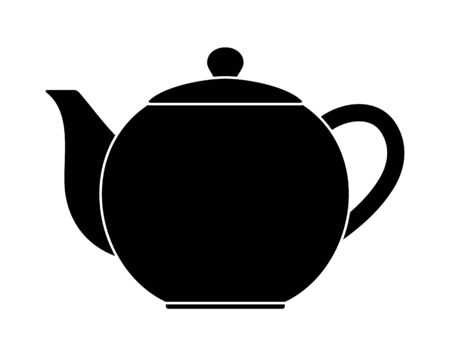 vector coffee or tea pot isolated on white background Ilustrace