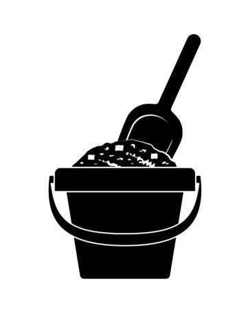 vector sand bucket and shovel isolated on white background Reklamní fotografie - 138085181