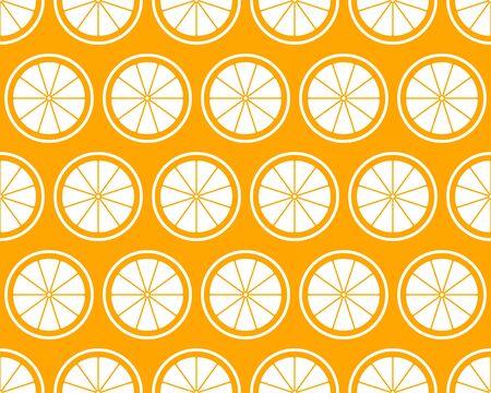 vector seamless texture with oranges on orange background 일러스트