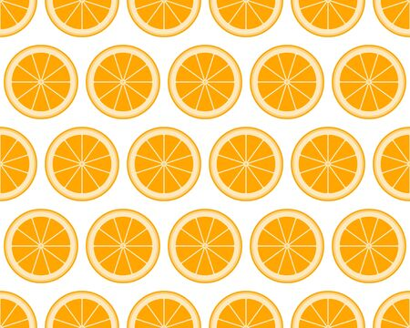 vector seamless texture with orange pattern on white background 일러스트