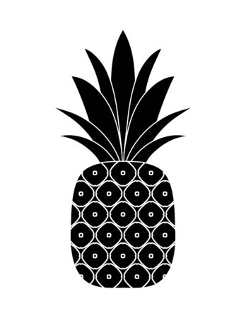 vector pineapple isolated on white background