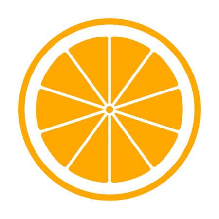 vector orange slice isolated on white background