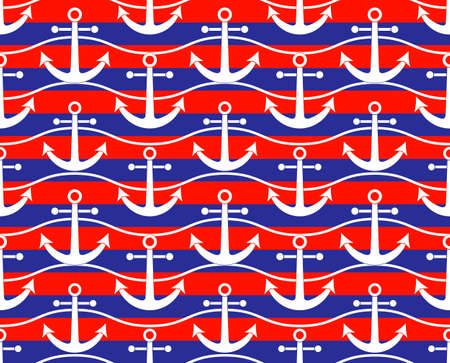 vector seamless texture with ship anchors pattern 일러스트