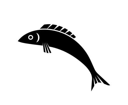 vector jumping fish isolated on white background 일러스트