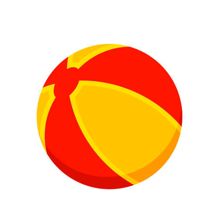 vector beach ball isolated on white background