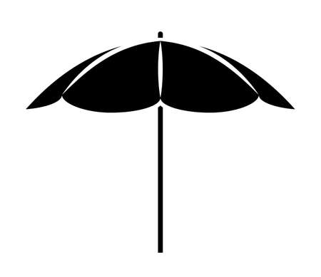 vector beach umbrella isolated on white background 일러스트