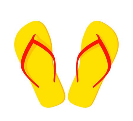 vector flip flops isolated on white background