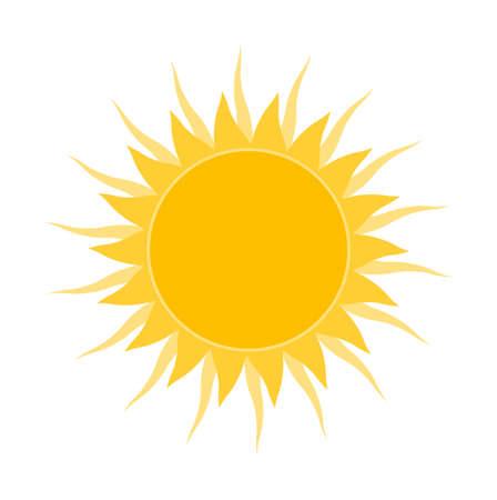 vector shining sun isolated on white background 일러스트
