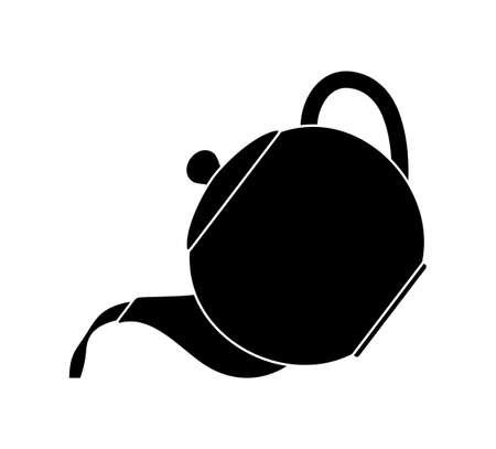 vector pour tea or coffee isolated on white background Ilustração