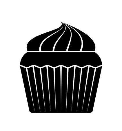 vector cupcake isolated on white background Ilustração