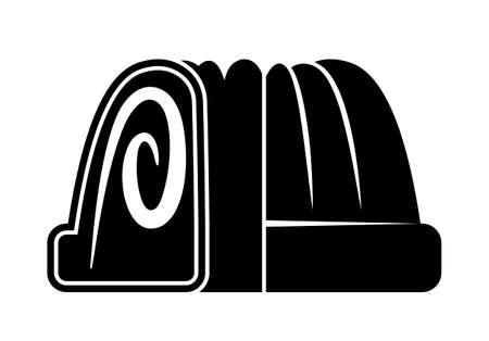 vector bundt cake isolated on white background