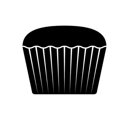 vector muffin isolated on white background