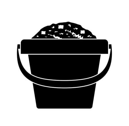 Vector sand bucket isolated on white Ilustração