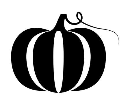 vector pumpkin isolated on white background
