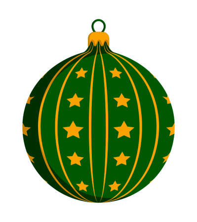 vector christmas ball isolated on white background
