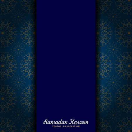 Elegant gold blue mandala Greeting Card. template for menu, invitation, poster, banner, card for the celebration. easy to change the colors