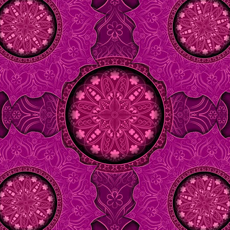 Ethnic floral pattern with vintage mandala elements for meditation, yoga, Tattoo, henna, etc.