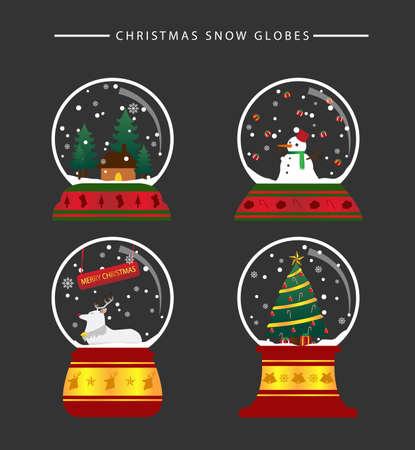 christmas snow: Christmas snow globes